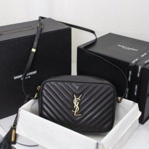 NWT YSL Lou Matelasse Leather Camera Bag
